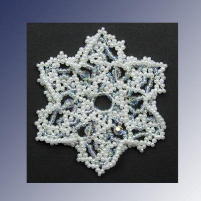 Snowflake #120 Ornament Pattern | Bead-Patterns