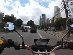 Moto no trânsito - visibilidade