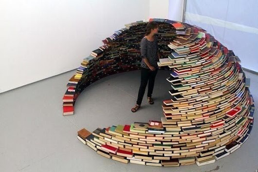 New Pin on Board: Books, Books, Books! #Pinterest : A House Made of Books?
