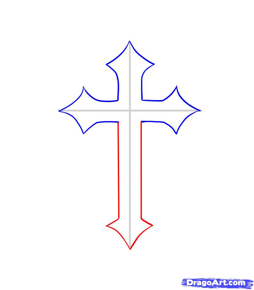 Free How To Draw A Cross Download Free Clip Art Free Clip Art On