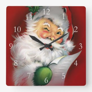Winking Santa Wall Clocks