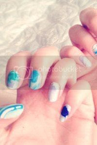 tie dye nail art, water marbeling tutorial, how to, nail art blog