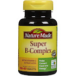 Nature Made B-Complex, Super, with Vitamin C, Tablets - 140 tablets
