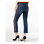 Inc Womens Blue Racing Stripe Ankle Jeans Petites