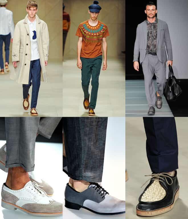 Men's Two Tone Footwear on the SS12 catwalks
