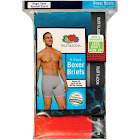 Fruit of The Loom Ringer Style Men's Boxer Briefs, Small, Assorted - 5 pack