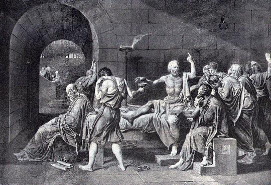 Ο Σωκράτης με τους μαθητές του μέχρι το τέλος