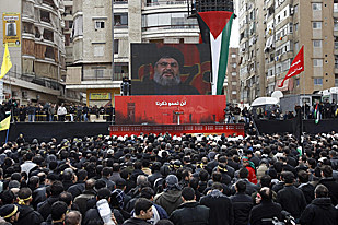 Hezbollah rally in Beirut expresses solidarity with the Palestinian people under military siege in Gaza. Over 700 have been reported killed. by Pan-African News Wire File Photos