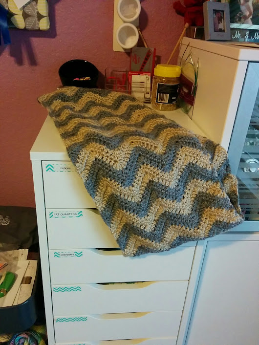 Finished Object: Chevron Infinity Scarf