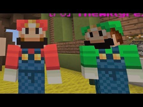 Mario Y Luigi En Minecraft