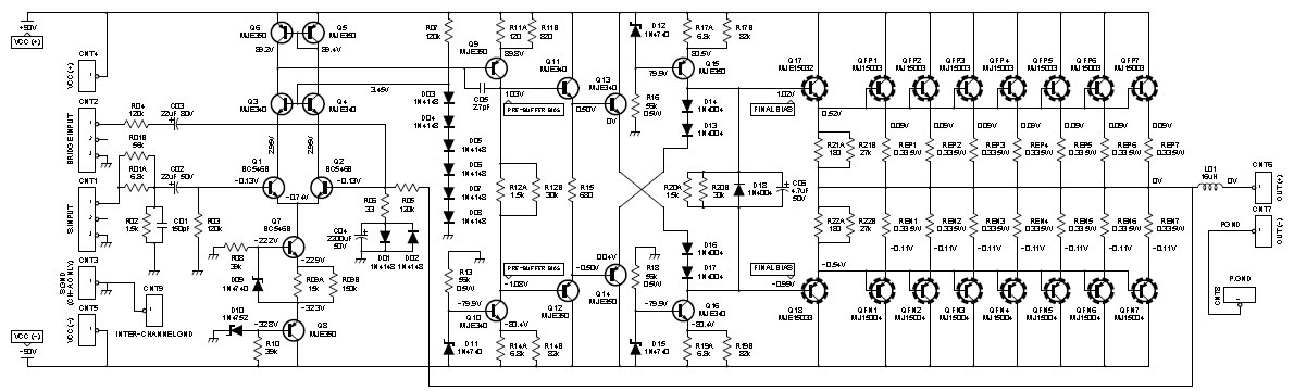 10000 Watts Power Amplifier Schematic Diagram - Circuit
