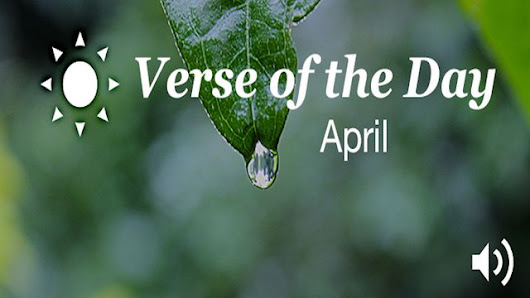 YouVersion Verse Of The Day: April