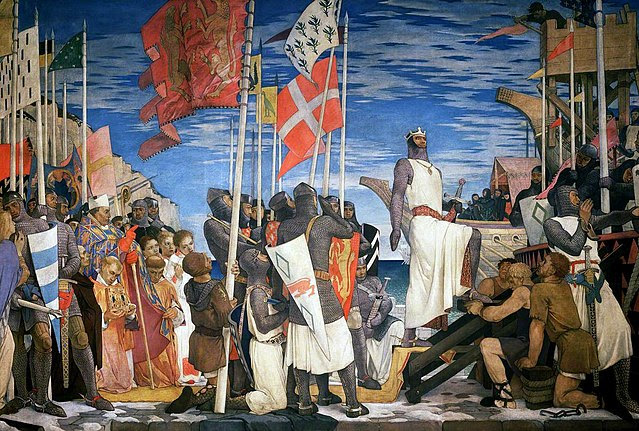 640px-Philpot,_Glyn_Warren;_Richard_I_Leaving_England_for_the_Crusades,_1189;_Parliamentary_Art_Collection