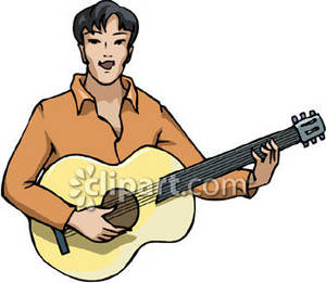 Guitar Player Royalty Free Clipart Image