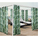 Outdoor Decor Banana Leaf Grommet Outdoor Curtain Panel