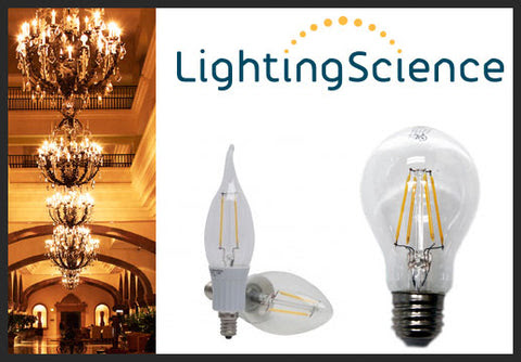 Lighting Science Vintage Filament Antique Style Candelabra and A19 LED | EarthLED.com