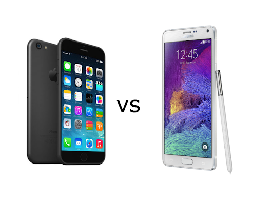 The Samsung Galaxy Note 4 vs the iPhone 6 Plus