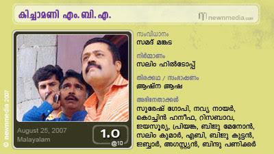 Kichamani MBA, Suresh Gopi, Navya Nair, Biju Menon, Samad Mankada, Onam Release, August Release, Malayalam Movie Review, Film, Cinema