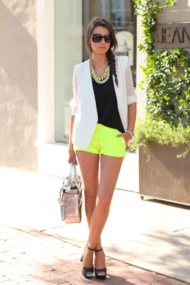 summer neon outfits that will draw all of the attention