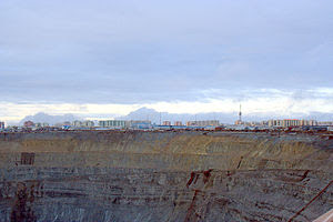 The city of Mirny with its mine