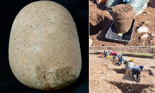 A mysterious 4,000-year-old clay urn is unearthed in Cornwall