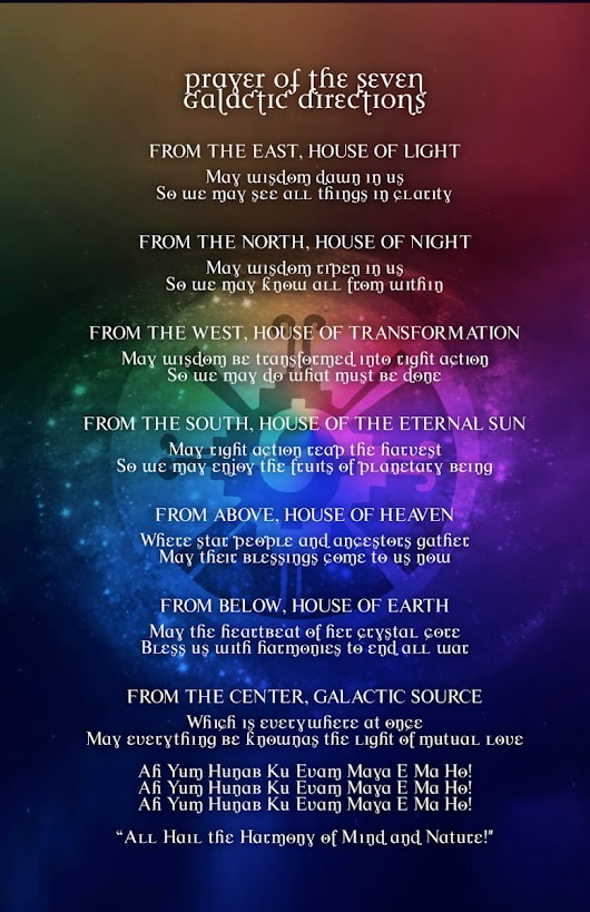 Original Prayer of the Seven Galactic Directions