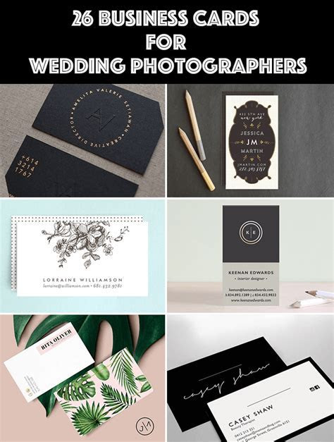 26 Wedding Photographer Business Cards   Templates That