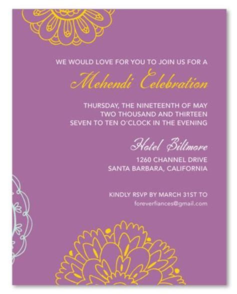 wording for mehndi invitation   Google Search   Wedding