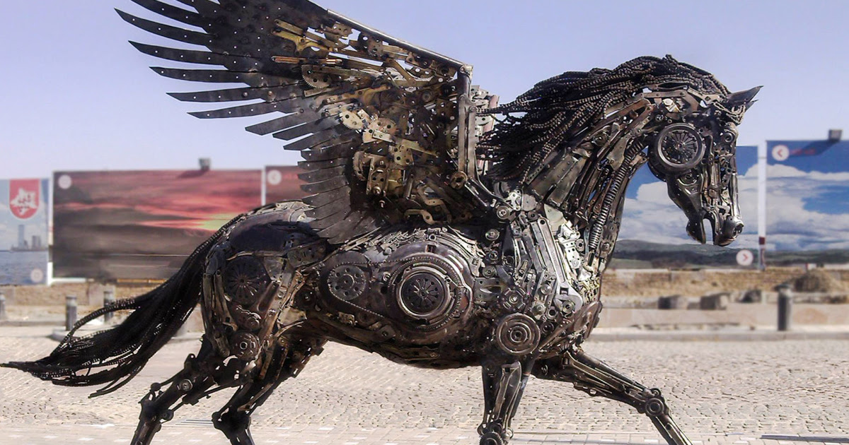 Stunning Animal Sculptures Made From Scrap Metal By Hasan ...