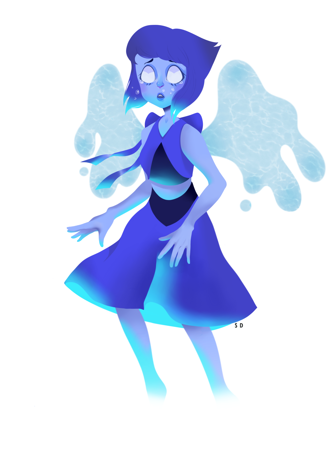 i finished lapis! she's transparent too!