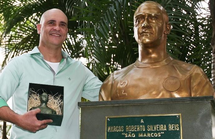 Marcos busto Palmeiras (Foto: Fabio Menotti/Ag. Palmeiras/Divulgação)