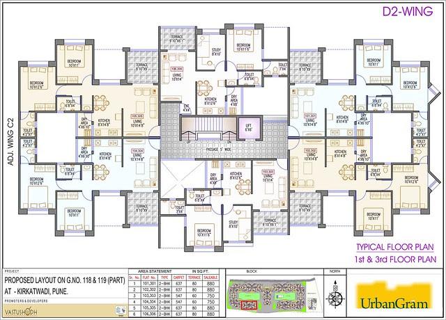D2 1st & 3rd Floor - 2 BHK Flat for Rs. 25 Lakhs at Urbangram Kirkatwadi on Sinhagad Road Pune 411 024