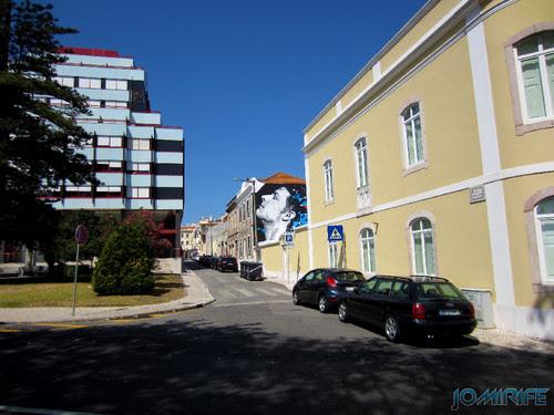 Arte Urbana by Eime - Rosto a olhar o céu na Figueira da Foz Portugal (1) [en] Urban art by Eime - Face looking at the sky in Figueira da Foz, Portugal