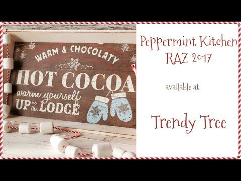 RAZ 2017 Peppermint Kitchen Collection at Trendy Tree