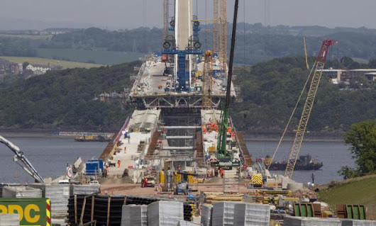 'Historic moment' as Queensferry Crossing touches down in Fife