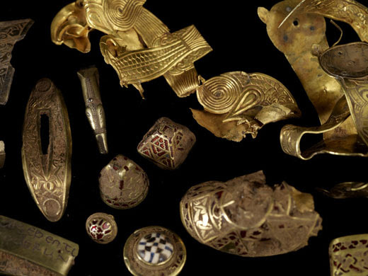 Staffordshire Anglo-Saxon Hoard image copyright by The Guardian
