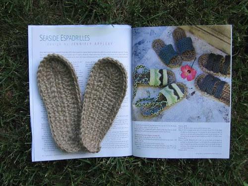 Crochet espadrille soles
