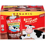 Horizon Organic Milk, Lowfat, Chocolate - 12 pack, 8 fl oz boxes