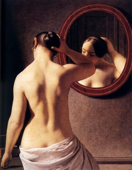 Espalda de mujer pintada por Christoffer Wilhem, clasicismo