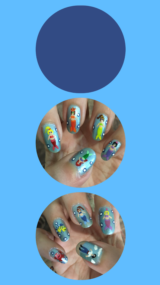 Little Mermaid Nail Art Lockscreen