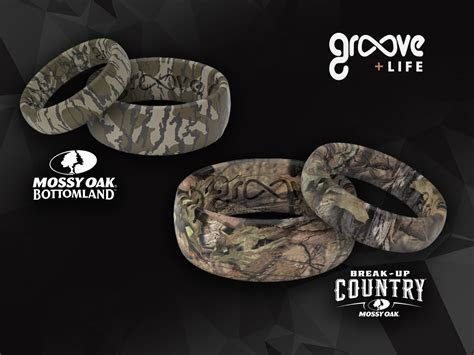New Mossy Oak Silicone Wedding Bands from Groove Rings
