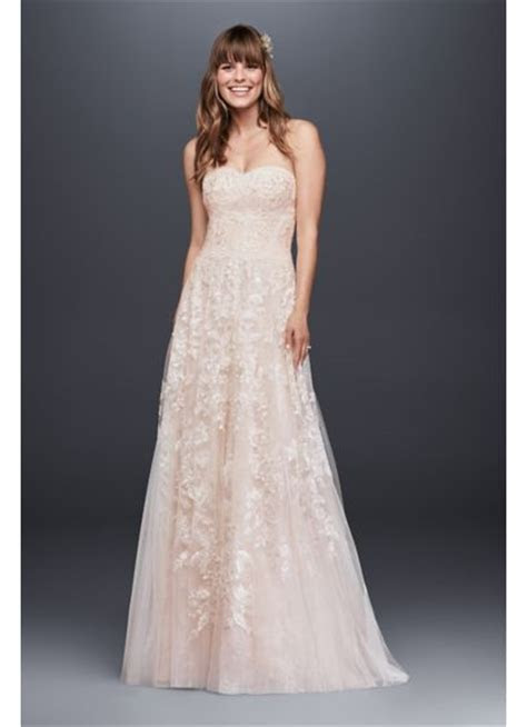 Melissa Sweet Lace A Line Wedding Dress   David's Bridal