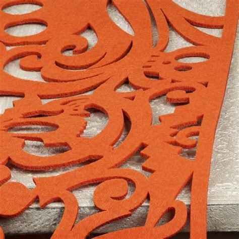 Orange Felt Halloween Table Runner   Textiles and Linens