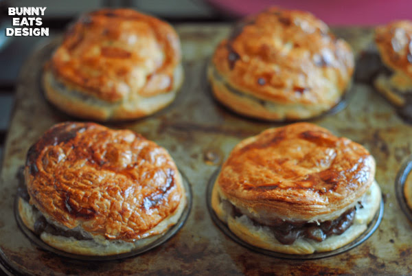 Individual Steak and Guinness Pies | Bunny Eats Design