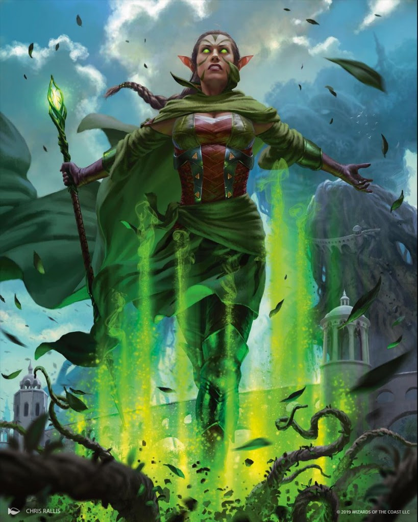Mtg Art Nissa Who Shakes The World From War Of The Spark Set By