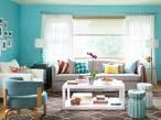 Interior Design Image: Turquoise Color Scheme For Interiors Living ...
