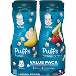 Gerber Graduates Puffs Cereal Snack, Banana/Strawberry Apple - 4 pack, 1.48 oz canisters