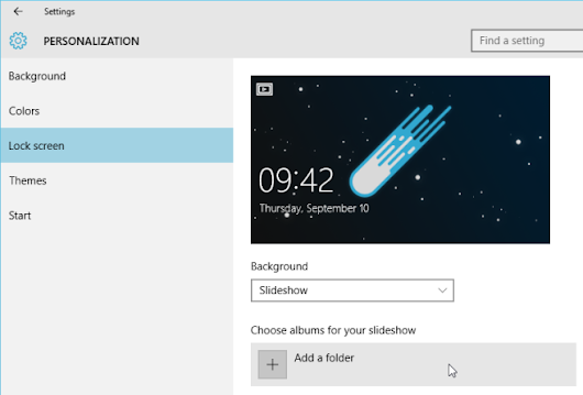 Use Your Own Image Slideshow For Your Windows 10 Lock Screen |