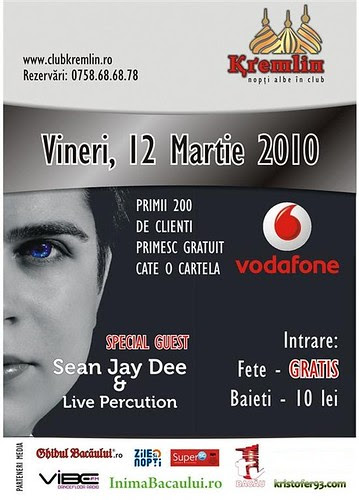 SEAN JAY DEE in VODAFONE TOUR – Vineri, 12mar. 2010