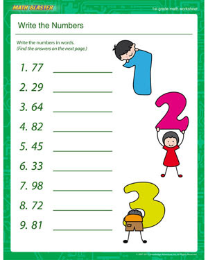 how to write numbers in an essay in math